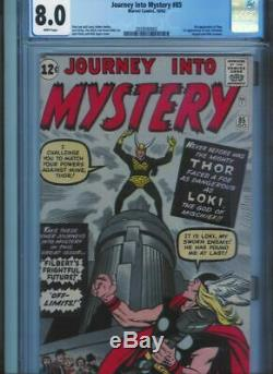 1 Cgc 8.0 Journey Into Mystery #85 White Pages Thor 1st Appearance Loki White