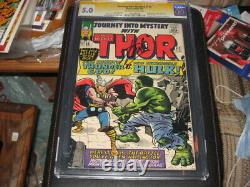 12 cents 1965 JOURNEY INTO MYSTERY THOR #112 VG/FN 5.0 CGC Stan Lee Signed
