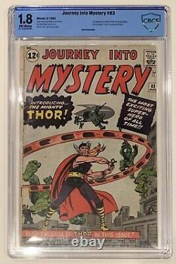 (1962) JOURNEY INTO MYSTERY #83 1st Appearance of THOR! CBCS 1.8 OWP! Not cgc