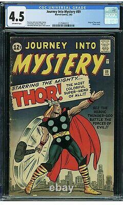 1963 Journey Into Mystery #89 Cgc 4.5 Classic Thor Cover 7th App Off-white Pages