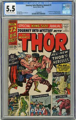 1965 Journey Into Mystery King Size Annual 1 CGC 5.5 1st Hercules