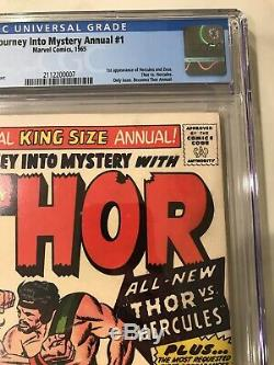 1965 MARVEL JOURNEY INTO MYSTERY ANNUAL #1 1ST APP. HERCULES CGC 6.5 OWithWHITE