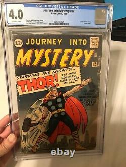 Cgc 4.0 Journey Into Mystery #89 Super Classic Thor Cover 1963