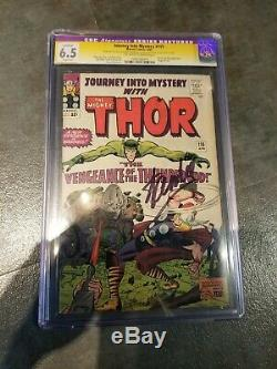 Cgc 6.5 ss stan lee signed thor journey into mystery #115