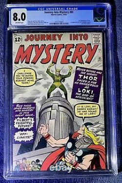 Cgc 8.0 Journey Into Mystery 85 Thor 1st Loki Asgard Heimdall Odin Cameo Disney+