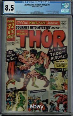 Cgc 8.5 Journey Into Mystery Annual #1 White Pages 1st Hercules And Zeus Thor Ap
