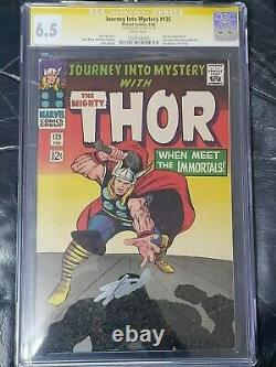 G01 Journey into Mystery #125 CGC SS 6.5 WHITE Pages Stan Lee 1 Auto Last Issue