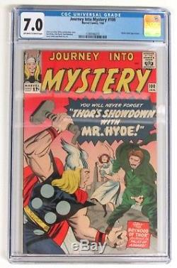 JOURNEY INTO MYSTERY #100 CGC 7.0 THOR, Stan Lee, Jack Kirby, Marvel Comics 1964