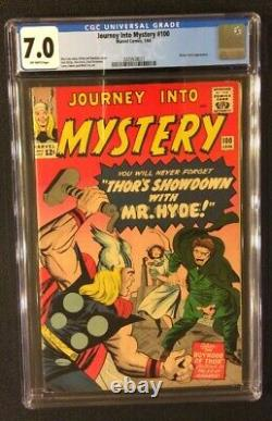 JOURNEY INTO MYSTERY #100 Comic CGC 7.0 Marvel 1964 Silver Age THOR Mister Hyde