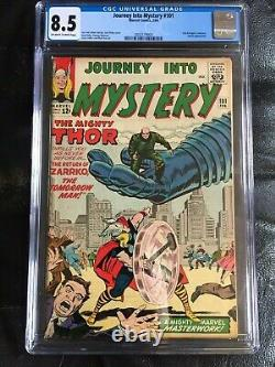 JOURNEY INTO MYSTERY #101 CGC VF+ 8.5 OW-W 2nd Avengers X-over (2/64)