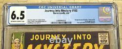 JOURNEY INTO MYSTERY #102 1st Baldur, Hela and Sif (1964) CGC 6.5