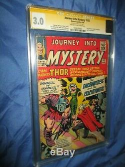 JOURNEY INTO MYSTERY #103 CGC 3.0 SS Signed Stan Lee 1st Enchantress 1964 THOR