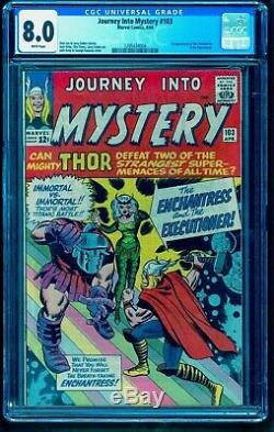JOURNEY INTO MYSTERY 103 CGC 8.0 WHITE PAGES 1st FIRST ENCHANTRESS EXECUTIONER