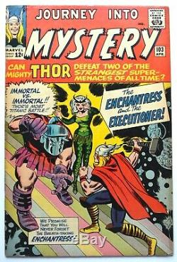JOURNEY INTO MYSTERY #103, THOR, 1964 Silver Age, 1st app ENCHANTRESS, VERY GOOD