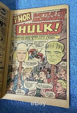 JOURNEY INTO MYSTERY #112 1965 Marvel Comics Hulk vs. Thor battle! Kirby