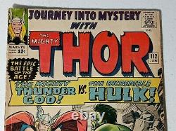 JOURNEY INTO MYSTERY #112 THOR VS HULK CLASSIC BATTLE COVER Origin Of Loki KEY
