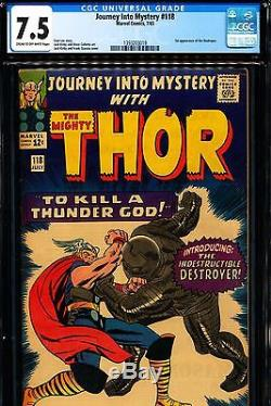 JOURNEY INTO MYSTERY #118 CGC 7.5 1st Destroyer