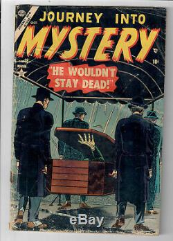 JOURNEY INTO MYSTERY #18 Grade 2.5 Golden Age Pre-Code Horror & Mystery