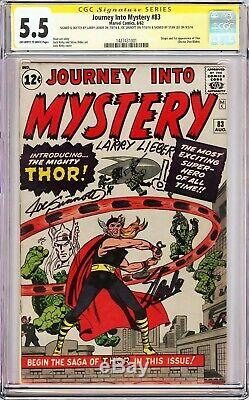 JOURNEY INTO MYSTERY #83 (1962) CGC 5.5 SS Signed Stan Lee, Sinnott, +1, +Sketches