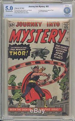 JOURNEY INTO MYSTERY 83 CBCS 5.0 First Thor Appearance Marvel Key Comic
