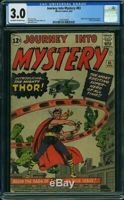 JOURNEY INTO MYSTERY #83 CGC 3.0 Origin & 1st Thor