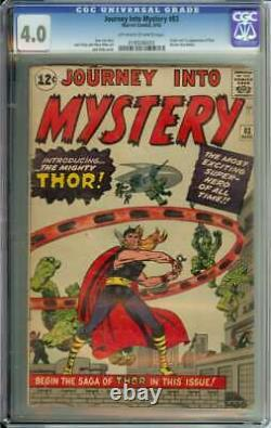 JOURNEY INTO MYSTERY #83 CGC 4.0 OWithWH PAGES // ORIGIN + 1ST APP OF THOR 1962