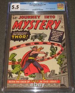 JOURNEY INTO MYSTERY #83 CGC 5.5 OWithW 1st THOR 1962 KEY Marvel Comics VERY NICE
