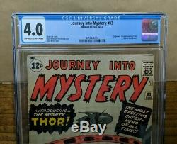 JOURNEY INTO MYSTERY 83 (Marvel 1962) Lee Kirby 1st Thor CGC 4.0