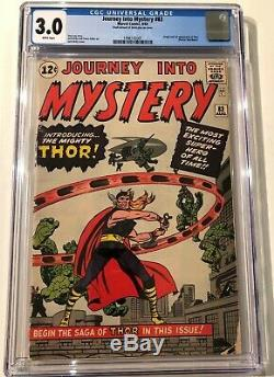 JOURNEY INTO MYSTERY #83, Massive key book! Thor begins! CGC 3.0 WHITE pages