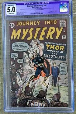 JOURNEY INTO MYSTERY #84 CGC 5.0 - 2ND THOR! 1ST JANE FOSTER! Restored