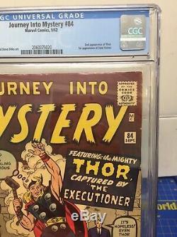 JOURNEY INTO MYSTERY #84 CGC 5.5 1st JANE FOSTERSTAN LEE/JACK KIRBYMARVEL