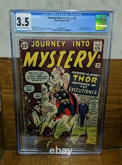 JOURNEY INTO MYSTERY 84 Marvel Sept 1962 CGC 3.5 OWW 1st Jane Foster 2nd Thor