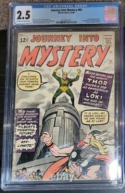 JOURNEY INTO MYSTERY #85 (1962) CGC 2.5 GD+ 1st Loki 3rd Thor Disney+ Marvel