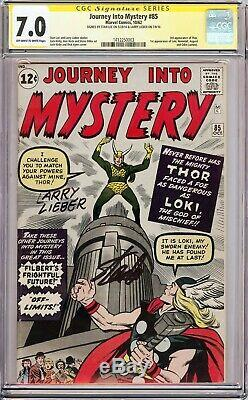 JOURNEY INTO MYSTERY #85 (1962) CGC 7.0 SS Signed Stan Lee & Larry Lieber