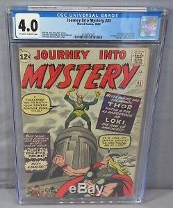 JOURNEY INTO MYSTERY #85 (1st Loki, Heimdall & Odin) CGC 4.0 Marvel Comics 1962