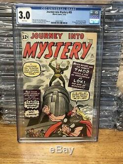 JOURNEY INTO MYSTERY #85 CGC 3.0 WHITE 1st LOKISTAN LEE/JACK KIRBYMARVEL