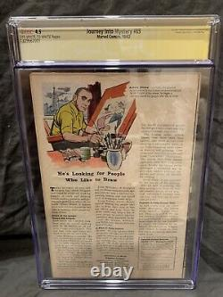 JOURNEY INTO MYSTERY #85 CGC 4.5 Signed By Stan Lee! 1st Loki, Heimdall & Odin
