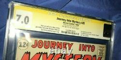 JOURNEY INTO MYSTERY #85 CGC 7.0 SS Signed by Stan Lee 1st LOKI