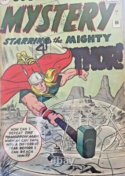 =JOURNEY INTO MYSTERY= #86 CGC 3.0 1962 1st Odin 4th Thor +RC 9d SilverAge Comic