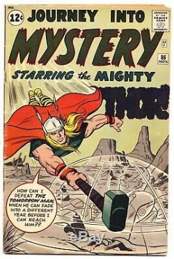 JOURNEY INTO MYSTERY #86 G/VG, THOR, 1st Full Odin, Marvel Comics 1962