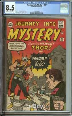 JOURNEY INTO MYSTERY #87 CGC 8.5 OWithWH PAGES