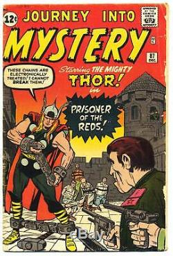JOURNEY INTO MYSTERY #87 G/VG, THOR, Stan Lee, Jack Kirby Marvel Comics 1962