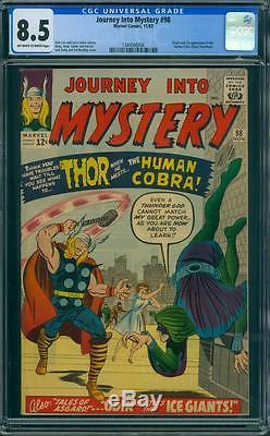 JOURNEY INTO MYSTERY 98 CGC 8.5 OWithW PAGES