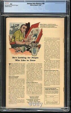JOURNEY INTO MYSTERY #98 Comic CGC 3.5 Marvel 1963 1ST APP COBRA Silver Age Thor
