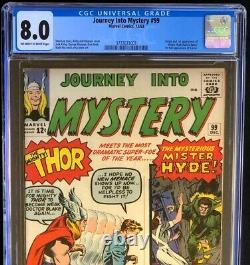 JOURNEY INTO MYSTERY #99 CGC 8.0 OW-W 1st App of Mr. Hyde! Marvel 1963
