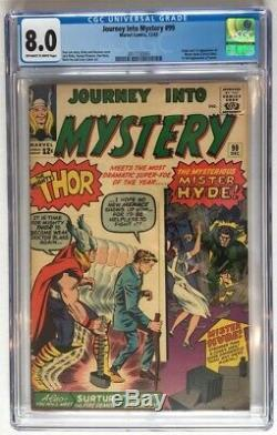 JOURNEY INTO MYSTERY #99 CGC 8.0! THOR First MISTER HYDE Surtur