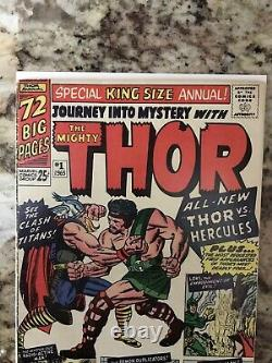 JOURNEY INTO MYSTERY ANNUAL #1 1965 Lee Kirby THOR 1st Hercules Zeus