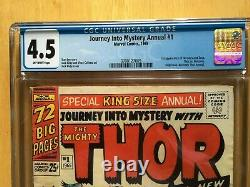 JOURNEY INTO MYSTERY ANNUAL #1 CGC 4.5 (Marvel 1965) Featuring THOR and HERCULES