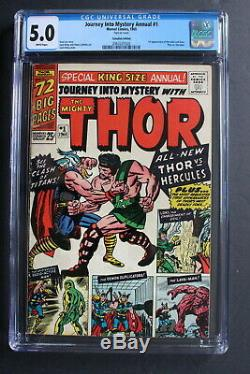 JOURNEY INTO MYSTERY ANNUAL #1 THOR 1965 1st HERCULES Canadian VARIANT CGC 5.0