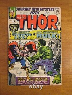 JOURNEY INTO MYSTERY/THOR #112 Hulk Key! (FN/VF, almost VF-) Colorful & Glossy